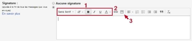 Gmail : personnaliser la signature