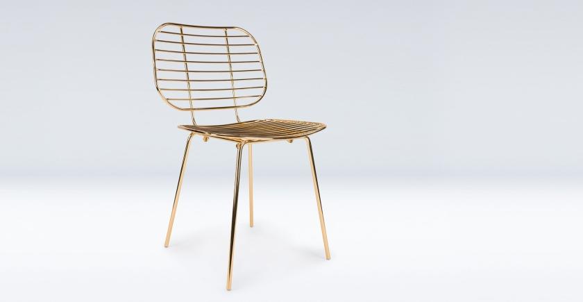 """Chaise en laiton design """"Powers"""""""