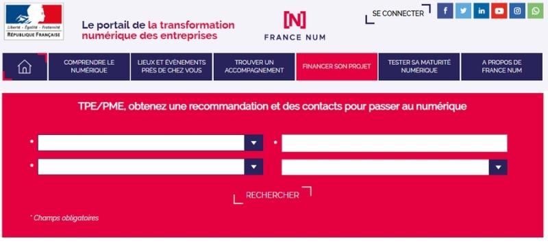 Le portail de la transformation numérique des entreprises FRANCE NUM au banc d'essai